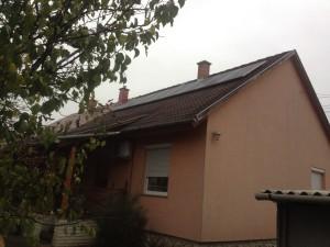 Trina Solar napelemek cseréptetőre telepítve