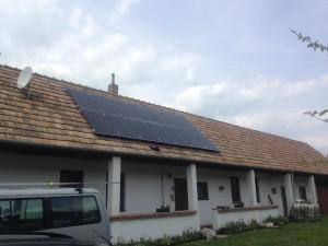 A napelem rendszer elkészült